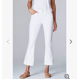 NEW J. Jill High-Rise Cropped White Jeans 4